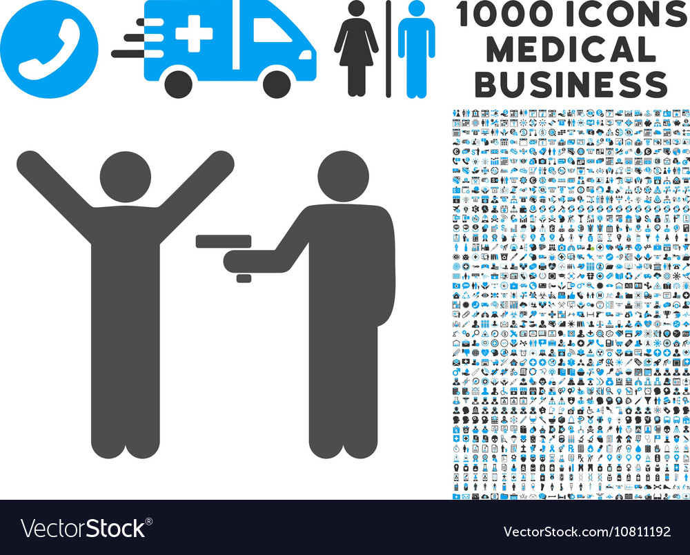Crime robbery icon with 1000 medical business vector