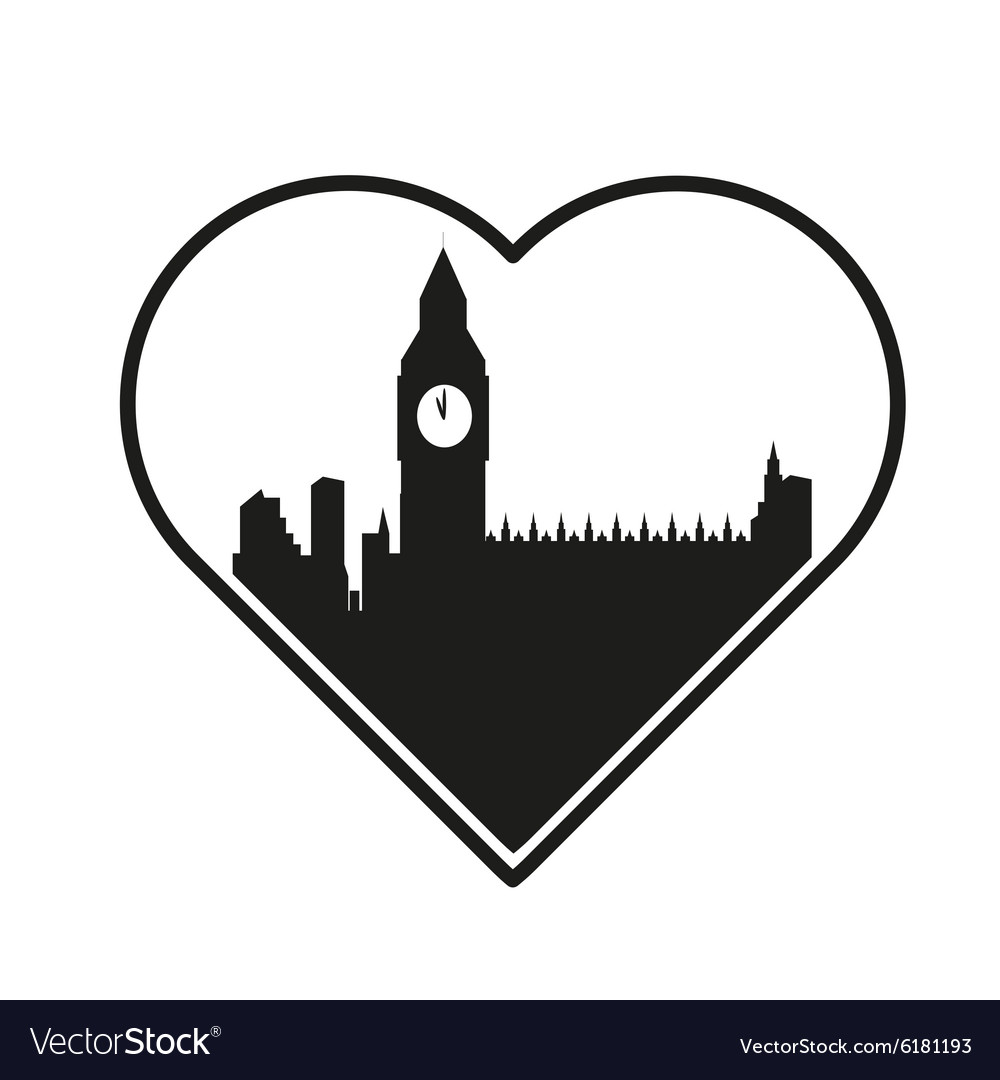 I love london template vector