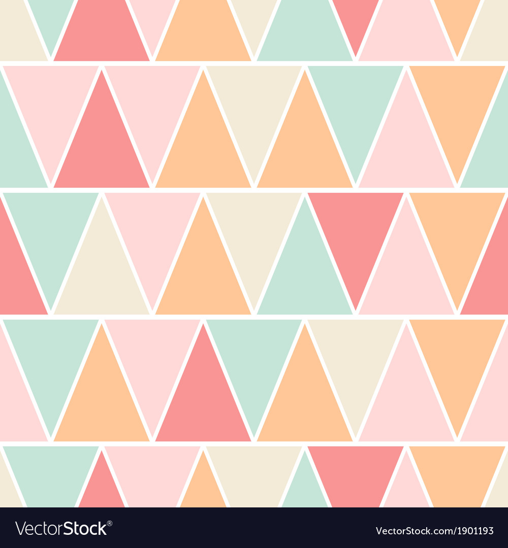 Seamless triangle pastel texture pattern vector