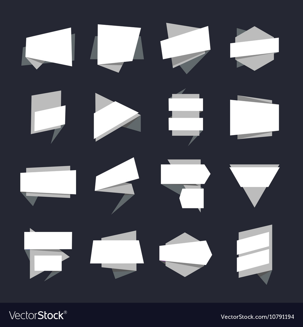 Abstract geometric banners label collection vector