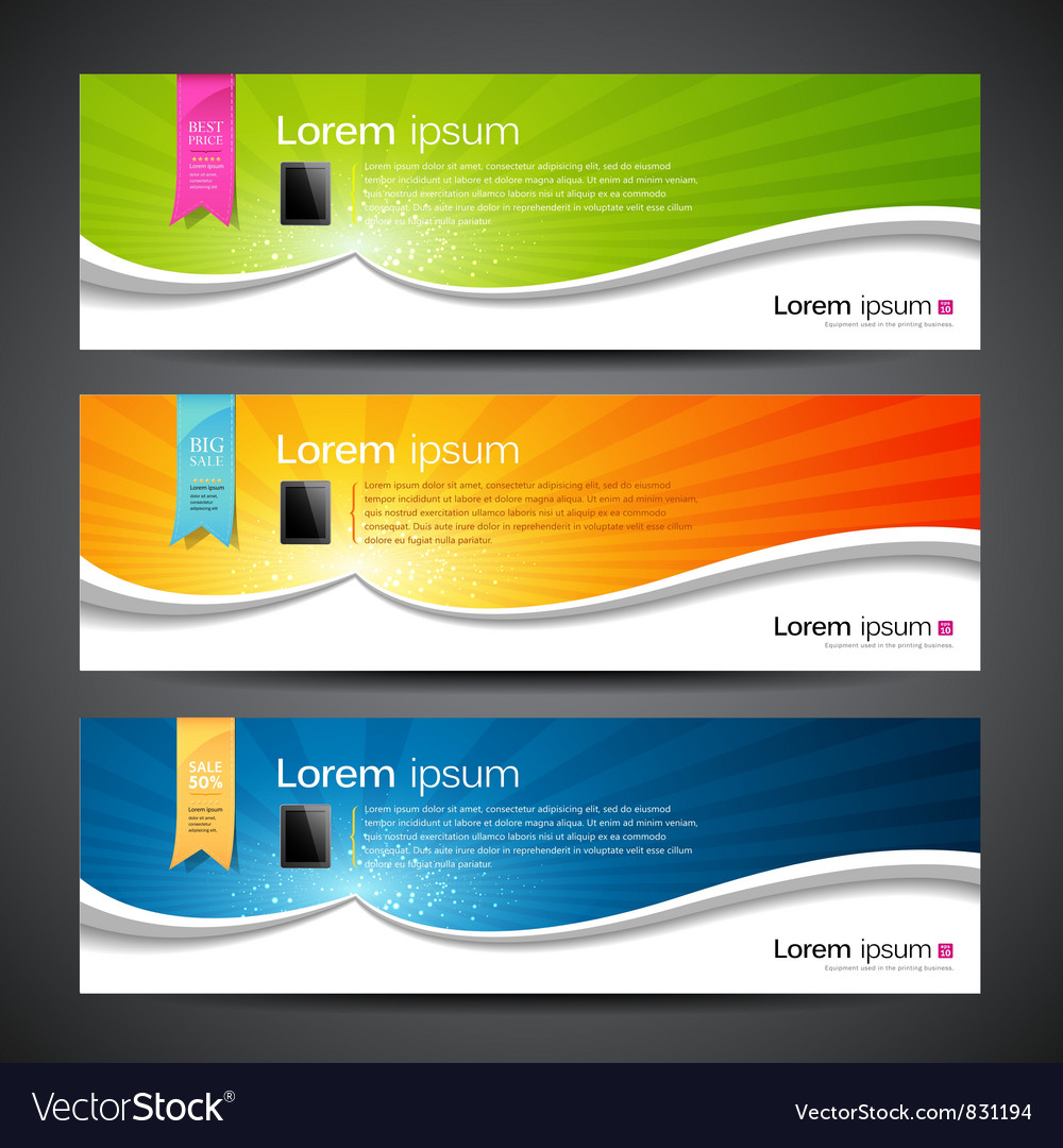 Banner design tablet vector