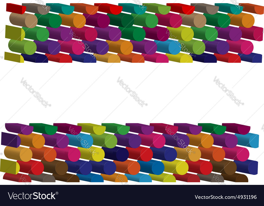 Colorful threedimensional symbol vector