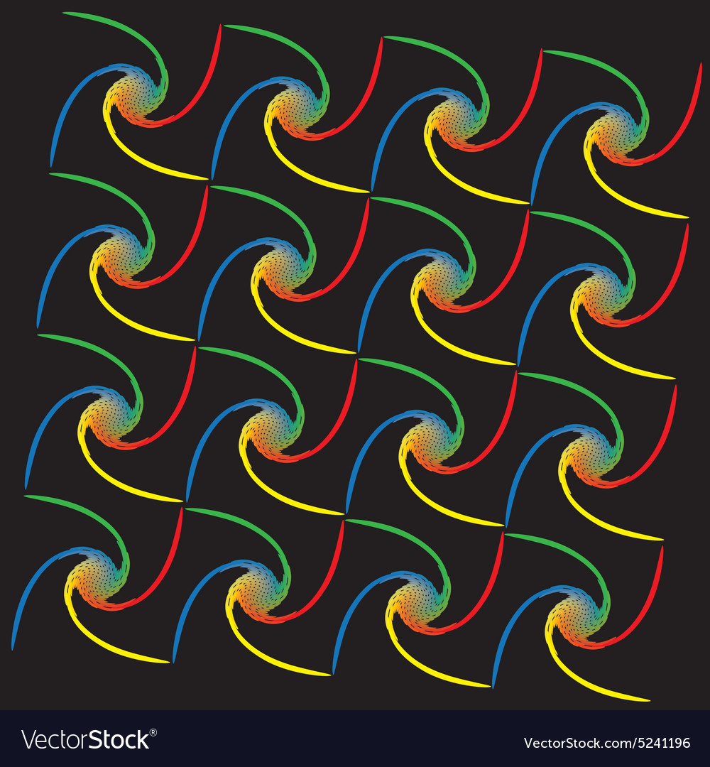 Rainbow spiral pattern vector