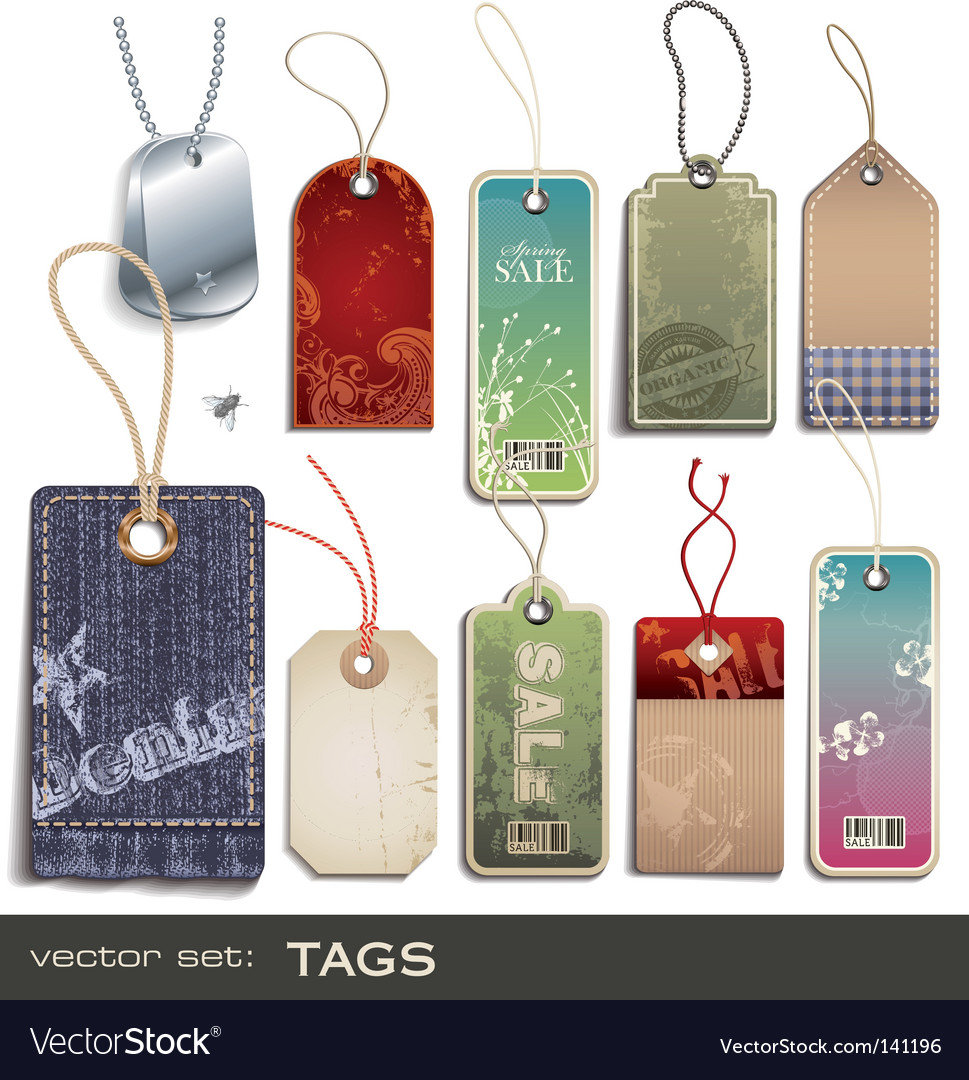 Swing tags vector