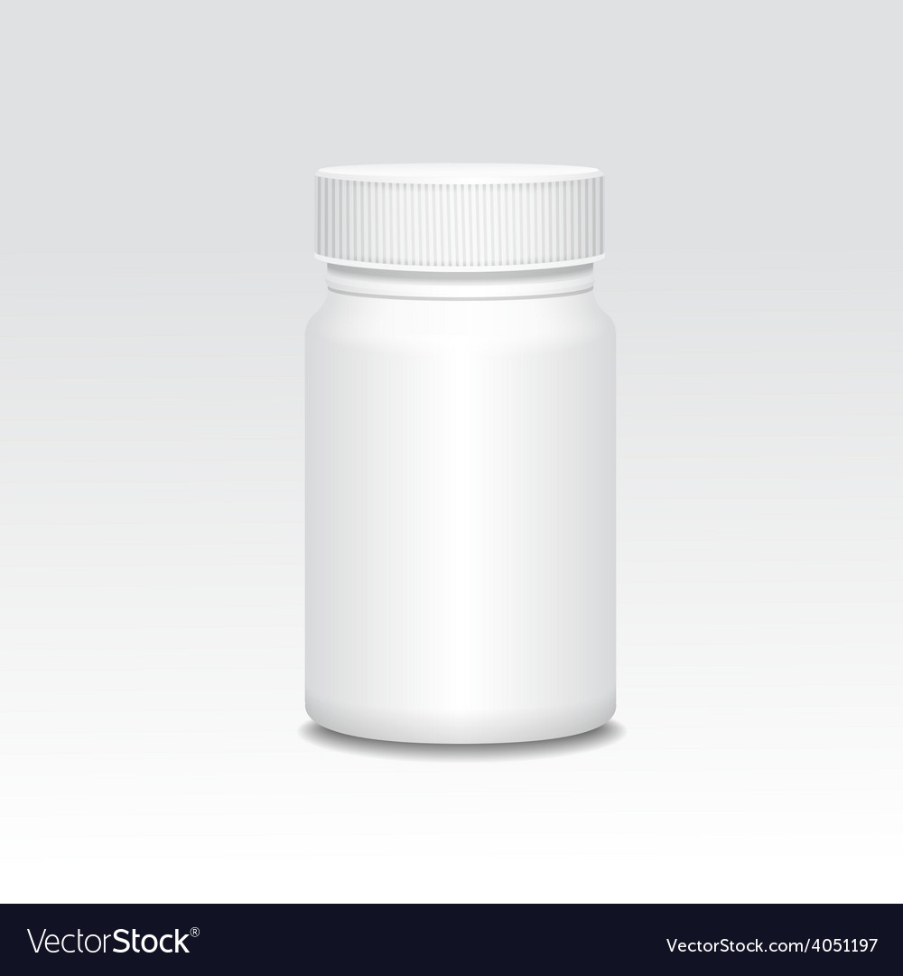 Blank medicine bottle realistic vector