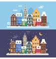 Christmas City Banners vector image