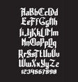 new gothic font vector image