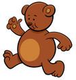 running bear cartoon character vector image