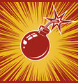 bomb icon with explosion design element for vector image