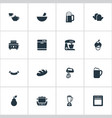 set of simple cuisine icons elements roasted bread vector image