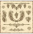 Retro grapes collection vector image vector image