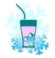 background cold drinks vector image vector image