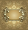 Gold banner with beautiful pattern vector image