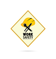 worker hat icon vector image