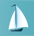 a boat with white sails design for a travel vector image