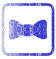 bow tie framed textured icon vector image