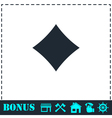 Cards suits icon flat vector image