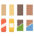 chocolate and wafer icon vector image