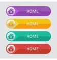flat buttons home vector image