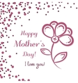 Flower Mothers Day vector image