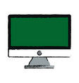 green screen monitor computer device vector image