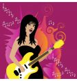 guitar girl vector image