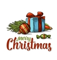 New Year set for greeting card Merry Christmas vector image