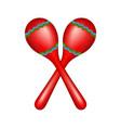 pair of maracas in red vector image