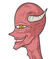 red demon vector image