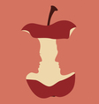 Romantic design Apple with portraits of young vector image