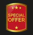 special offer label vector image
