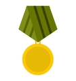 Military medal icon flat style vector image