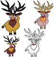 A set of Christmas deers vector image