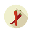Chilli pepper flat icon Vegetable vector image