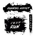 grunge motivational poster running vector image
