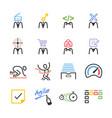 agile team icon set vector image