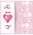 flyer card with hearts and place for text vector image