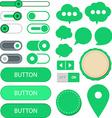 Flat web design elements vector image