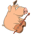pig-musician cartoon vector image