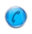 Blue Phone Icon vector image vector image