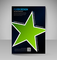 Business brochure Editable A4 poster for design vector image vector image