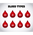 blood types vector image