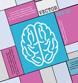 Brain icon sign Modern flat style for your design vector image