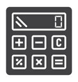 calculate solid icon business and calculator vector image