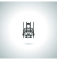 Criminal prisoner icon vector image