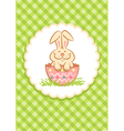 Easter Rabbit green vector image