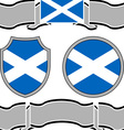 flag of scotland with banners vector image