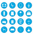 furniture icon blue vector image
