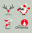 happy merry christmas collection design vector image