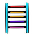 ladder on playground icon icon cartoon vector image